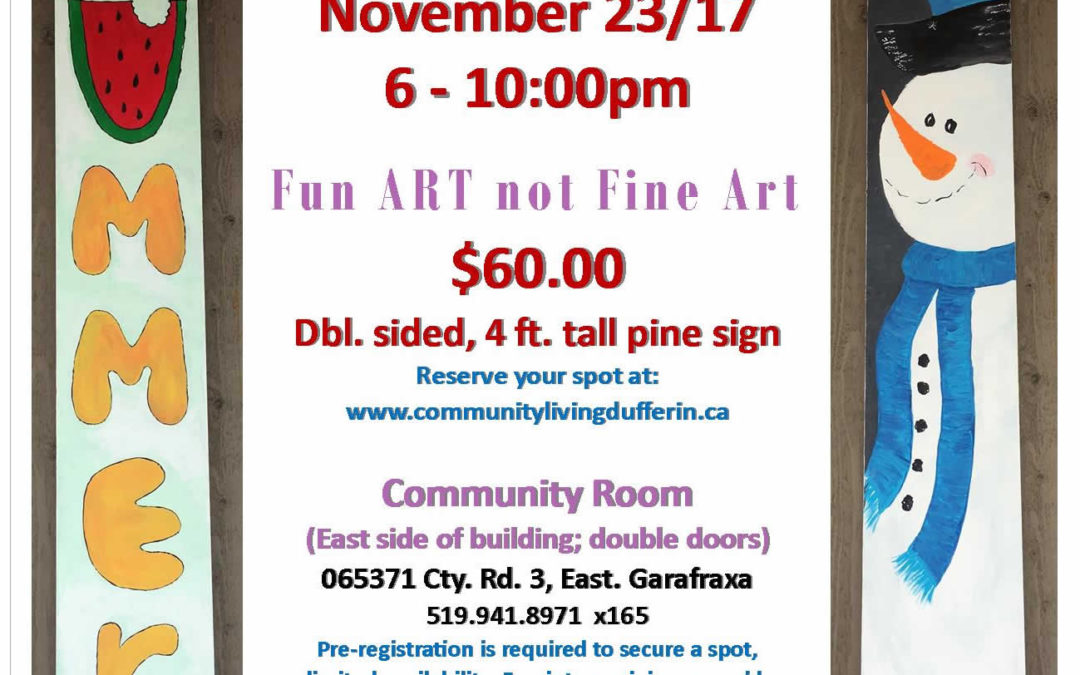 Paint for a Purpose Nov 23/17