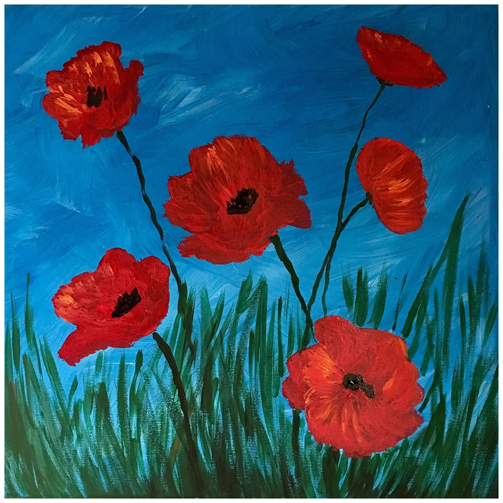 Paint for a purpose- Poppies